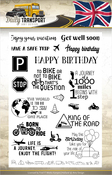 Daily Transport Text - Find It Trading Amy Design Clear Stamps