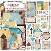 Noteworthy Die-Cuts - World Traveler - Bo Bunny