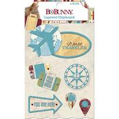 Layered Chipboard - World Traveler - Bo Bunny - PRE ORDER