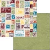 Postage Paper - World Traveler - Bo Bunny - PRE ORDER