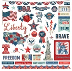 Red White & Blue Element Sticker - Photoplay