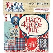 Red White & Blue Cardstock Ephemera - Photoplay