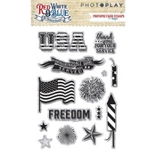 Red White & Blue Stamps - Photoplay