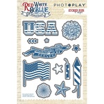Red White & Blue Etched Die Set - Photoplay