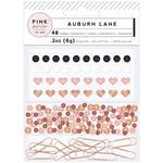 Enamel Shapes, Paper Clips & Sequins - Auburn Lane - Pink Paislee
