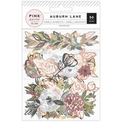 Auburn Lane Cardstock & Vellum Ephemera - Pink Paislee