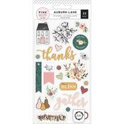 Auburn Lane Icons & Phrases - Pink Paislee