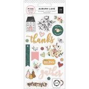 Auburn Lane Icons & Phrases - Pink Paislee