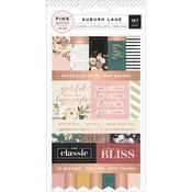 Auburn Lane Cardstock Label Stickers - Pink Paislee