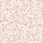 Auburn Lane Copper Foil Vellum Sheet - Pink Paislee