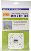 Trim 30, 45, 60 And 67.5 Degree Angles - C&T Publishing fast2cut Tools Trim-A-Tip Tool