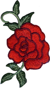 Red Rose - Wrights Iron-On Applique