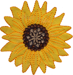 Large Yellow Sunflower - Wrights Iron-On Applique