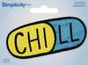 Chill Pill - Wrights Iron-On Applique Iron-On Appliques are the perfect decorative addition to a wearable garment or a craft project. They come in a variety of sizes and styles. Great for towels, blankets, pillows, purses, scrapbooks, backpacks, aprons, jackets, pants, t-shirts, costumes, baby clothes and so much more! This 3.75x2.75 inch package contains one iron-on applique. Comes in a variety of designs. Each sold separately. Imported.