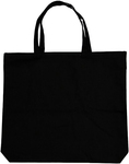 "Black - Large Tote 18""X16""X3"""