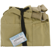 """Olive - Messenger Tote 12""""X12""""X4"""""""