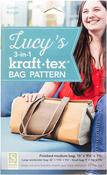"""Finished Medium Bag 15""""X9.5""""X7.75"""" - kraft-tex Lucy's 3-in-1 kraft-tex Bag Pattern"""