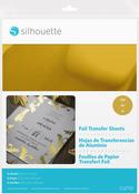 "Gold - Silhouette 8.5""X11"" Foil Transfer Sheets 6/Pkg"