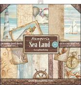 "Sea Land - Stamperia Double-Sided Paper Pad 12""X12"" 10/Pkg"