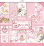 "Baby Girl - Stamperia Double-Sided Paper Pad 12""X12"" 10/Pkg"