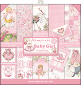 """Baby Girl - Stamperia Double-Sided Paper Pad 12""""X12"""" 10/Pkg"""
