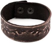 Brown Floral W/Snap Enclosure - Tim Holtz Assemblage Cuff Bracelet