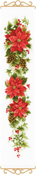 "Poinsettia (14 Count) - RIOLIS Counted Cross Stitch Kit 7.5""X35.5"""
