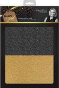 Glitter, 15 Black, 15 Gold - Sara Davies Signature Luxury Cardstock A4 30/Pkg