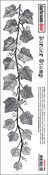 "Vine - Darkroom Door Border Cling Stamp 11.8""X2.2"""