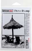 "Summer Oasis - Darkroom Door Cling Stamp 4.6""X3.2"""