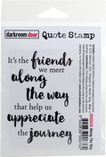 "Along The Way - Darkroom Door Quote Cling Stamp 3.3""X2.3"""