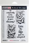 """Butterfly Script - Darkroom Door Cling Stamps 7.3""""X5.1"""""""
