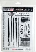 "Artist Brushes - Darkroom Door Cling Stamps 7.3""X5.1"""