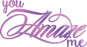 """Amaze Me 3.1""""X1.6"""" - Couture Creations Every Day Sentiments Hotfoil Stamp"""