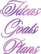 """Ideas, Goals, Plans 2.4""""X3.2"""" - Couture Creations Every Day Sentiments Hotfoil Stamp"""