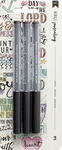 Black - American Crafts Bible Journaling Precision Pens 3/Pkg