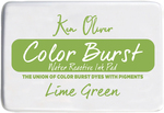 "Lime Green - Ken Oliver Color Burst 3.75""X2.5"" Stamp Pad"