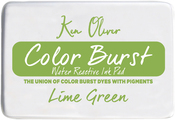 """Lime Green - Ken Oliver Color Burst 3.75""""X2.5"""" Stamp Pad"""
