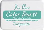"""Turquoise - Ken Oliver Color Burst 3.75""""X2.5"""" Stamp Pad"""