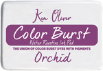 "Orchid - Ken Oliver Color Burst 3.75""X2.5"" Stamp Pad"