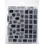 """Stamp Collector - Tim Holtz Cling Stamps 7""""X8.5"""""""