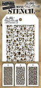 Set #35 - Tim Holtz Mini Layered Stencil Set 3/Pkg