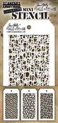 Set #35 - Tim Holtz Mini Layered Stencil Set 3/Pkg