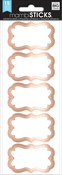 Rose Gold Brocade, 15/Pkg - Me & My Big Ideas Label Stickers