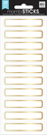 Gold Mini Rectangles, 30/Pkg - Me & My Big Ideas Label Stickers