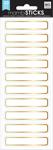Gold Mini Rectangles, 30/Pkg - Me & My Big Ideas Label Stickers