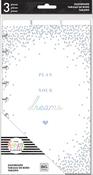 """Plan Your Dreams - Happy Planner Medium Dashboards 5.5""""X9.65"""" 3/Pkg"""