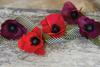 Sangria/Aubergine & Cherry/Raspberry - Double-Sided Extra Fine Crepe Paper 2/Pkg