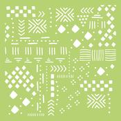 "Tribal Collage - Kaisercraft Designer Template 6""X6"""