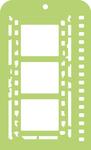 "Film Strip - Kaisercraft Mini Designer Templates 3.5""X5.75"""